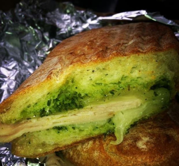 Turkey, Swiss and Pesto Hot Pressed Sandwich