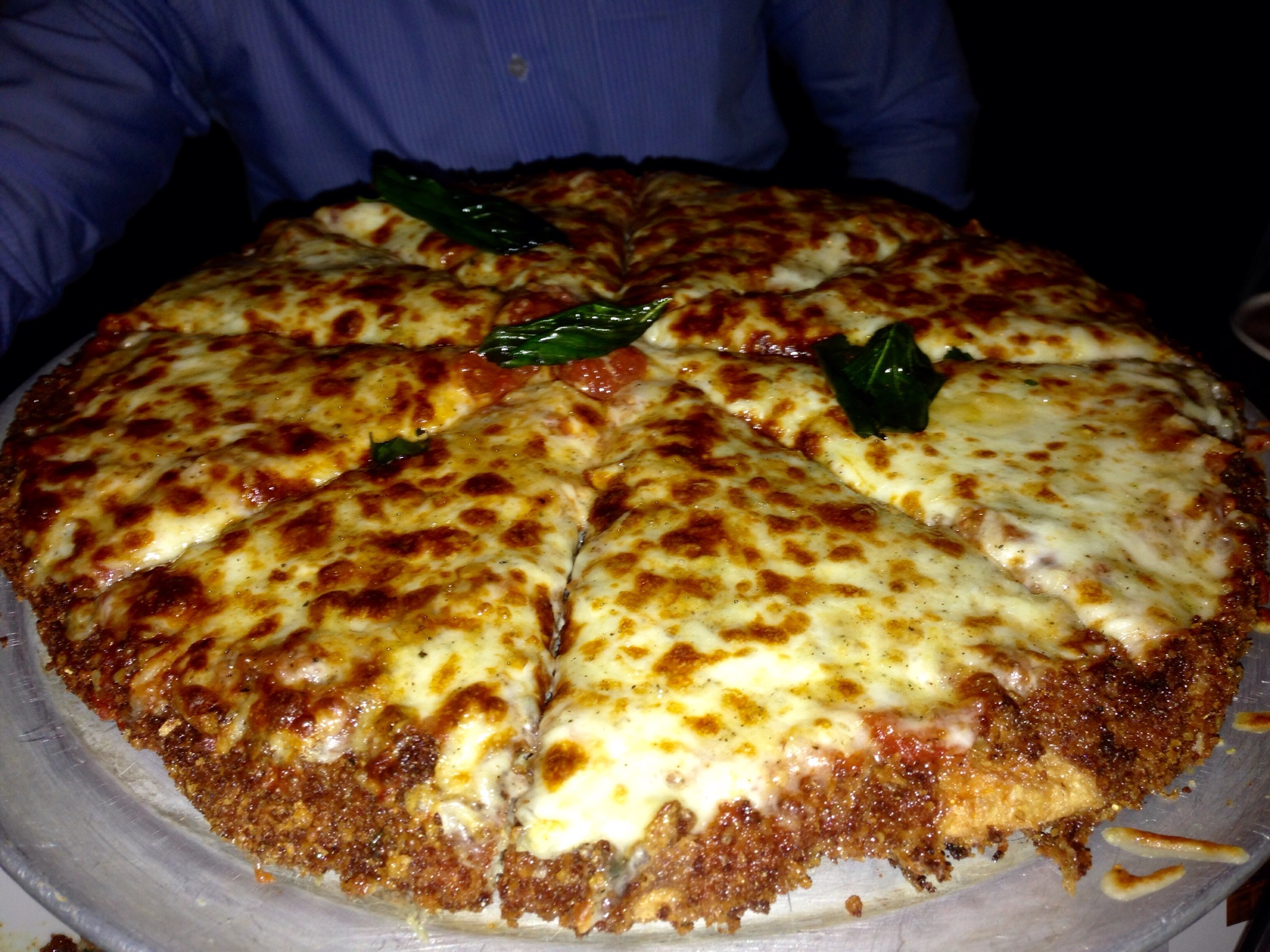Pizza Made Only Of Chicken Parm That Yum Factor